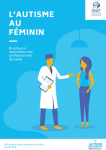 L'autisme au féminin : brochure à destination des professionnels de santé